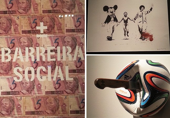 Exposição no Rio de Janeiro traz trabalhos de Banksy e outros ícones da street art
