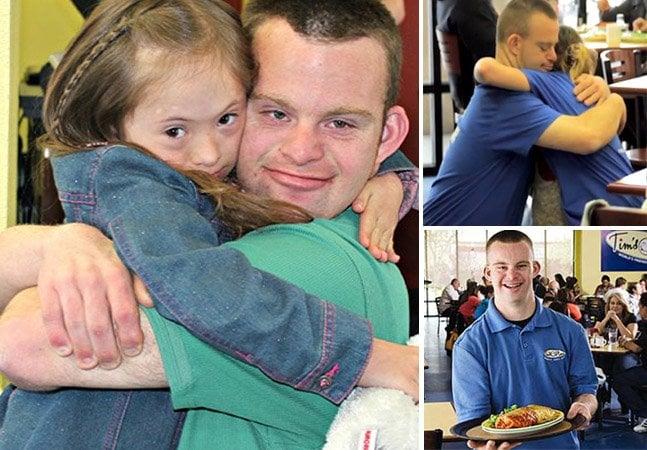 A história do homem com Síndrome de Down que é dono de um restaurante que distribui abraços