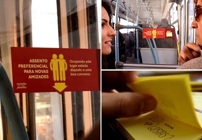 Ação brasileira ajuda a promover novas amizades no transporte público