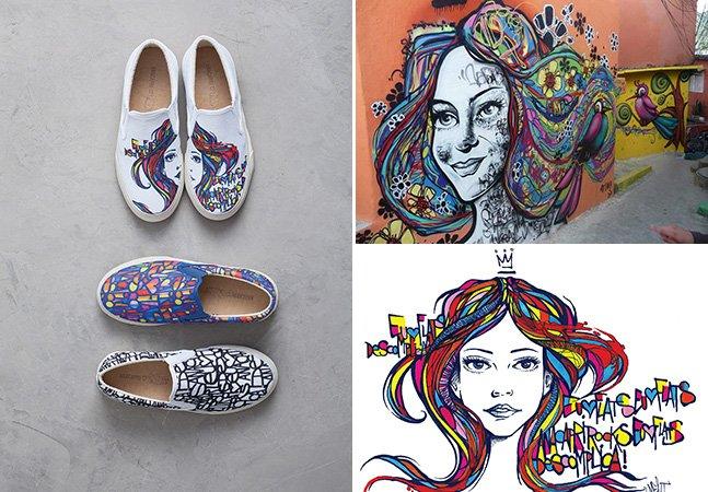 Marca de calçados lançacoleção com estampas exclusivas criadas por artista de rua brasileiro