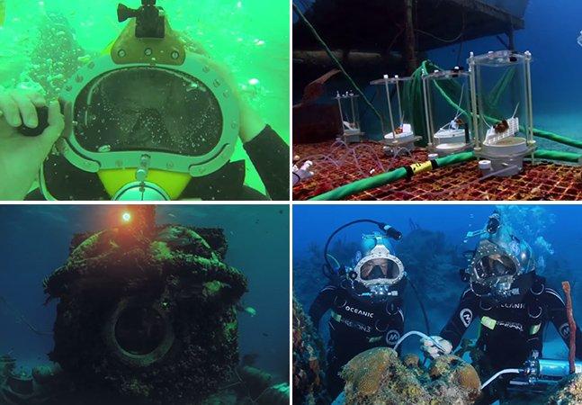 Aquanatuas ficam 2 semanas no fundo do mar em laboratório submarino