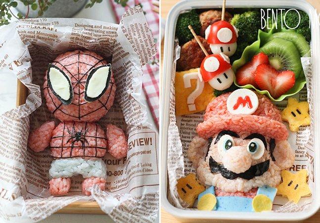 Mãe transforma almoços dos filhos em verdadeiras obras de arte