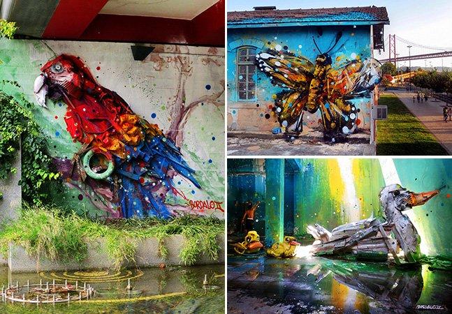 Artista une lixo à street art nas ruas de Lisboa e o resultado é fascinante