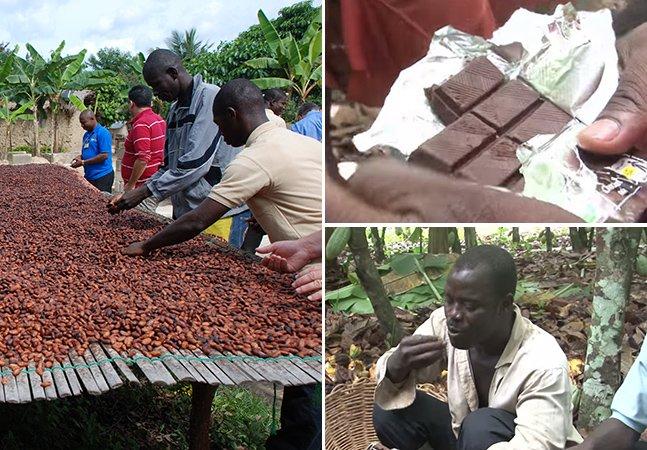 Eles produzem milhões de toneladas de cacau na Costa do Marfim, mas nunca tinham provado o resultado: chocolate.