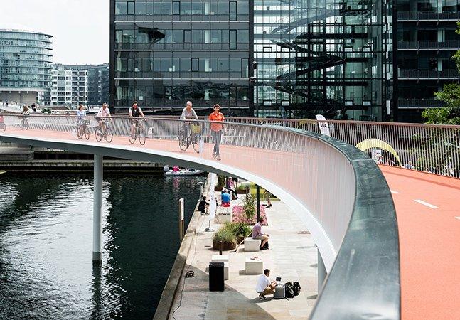 A nova ponte que comprova que Copenhague é mesmo a cidade dos ciclistas