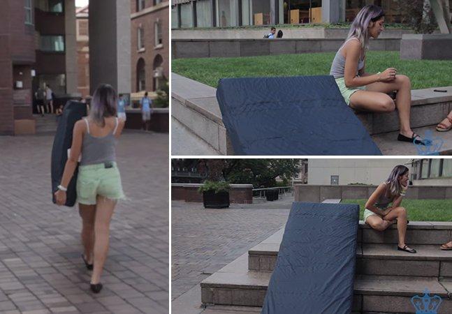 Universitária encontra forma inovadora de protestar contra seu estuprador