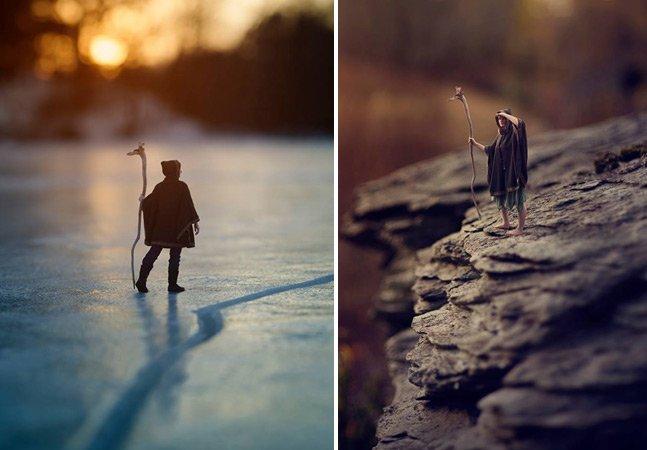 Fotógrafo de 15 anos cria mundo mágico feito em miniatura