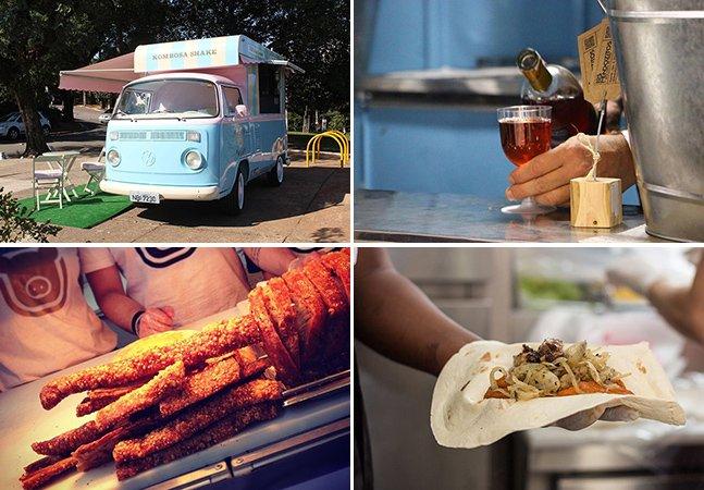22 food trucks se reúnem em estacionamento de shopping para divulgar a gastronomia de rua