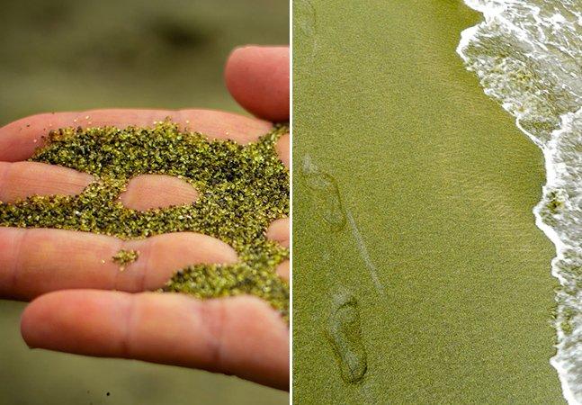 Conheça a incrível praia de areia verde no Havaí