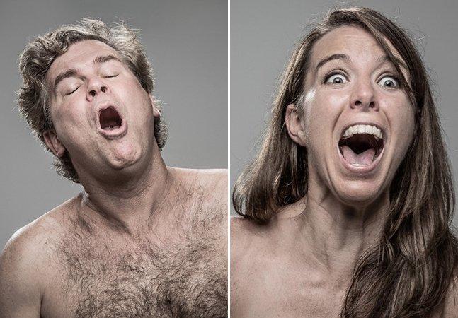 Série fotográfica divertida mostra a reação das pessoas ao levar um choque