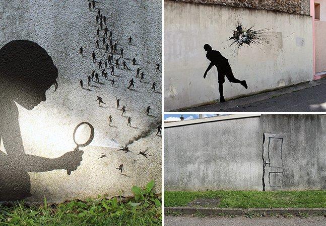 Os trabalhos criativos desse artista de rua vão confundir seus sentidos