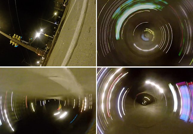 Isto é o que acontece quando você prende uma GoPro num pneu de um carro