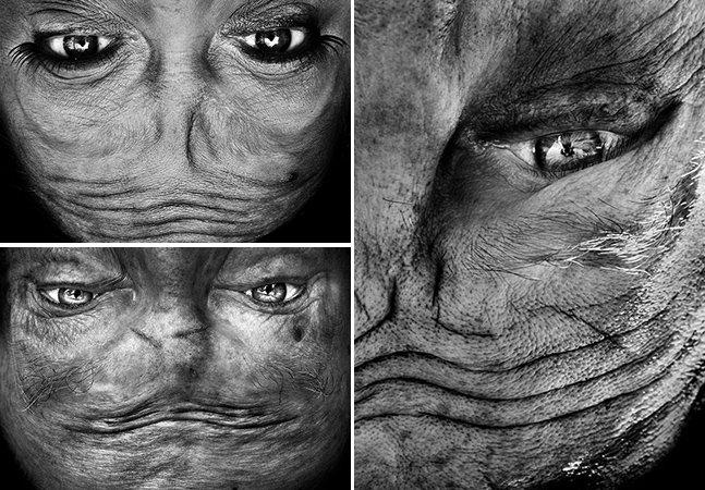 Fotógrafa cria série intrigante com retratos pessoas de ponta-cabeça