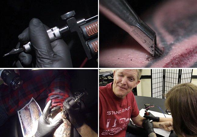 Só para corajosos: vídeo em slow motion mostra o processo de produção de uma tatuagem