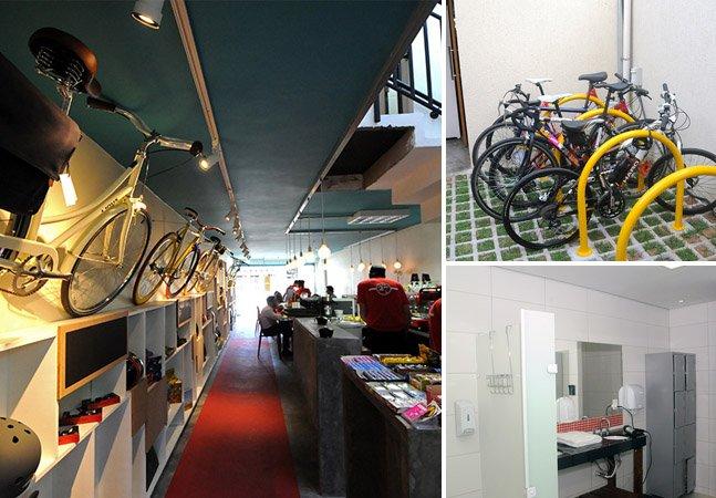 Café em SP resolve problemas dos ciclistas com ducha, assistência e estacionamento para bikes