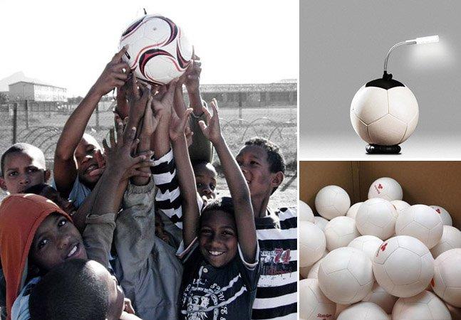 Bola de futebol inovadora usa o jogo para gerar energia capaz de abastecer um vilarejo inteiro