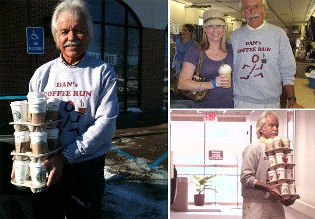 Conheça o homem que compra e leva cafés todos os dias para pacientes com câncer