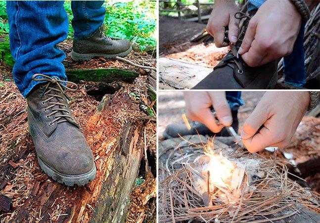 Cadarço inovador permite produzir fogo em qualquer lugar