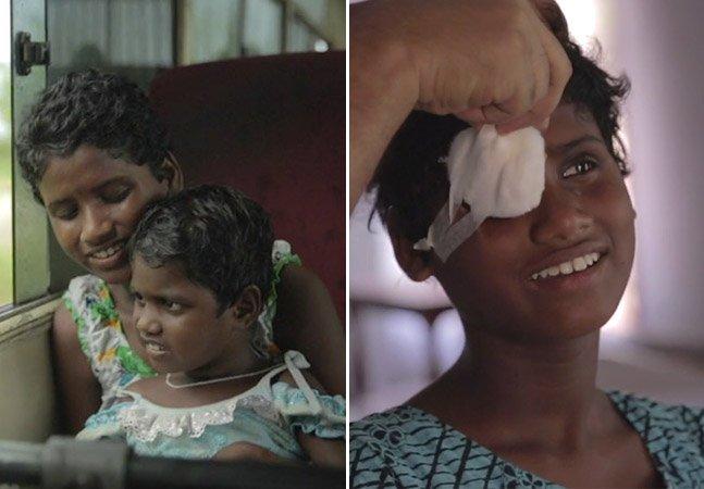 Vídeo tocante mostra irmãs cegas enxergando o mundo pela primeira vez