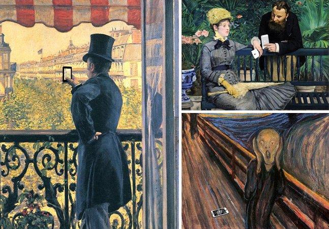 Ilustrador insere gadgets em famosas obras de arte do passado