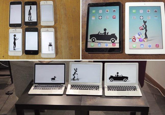 Banda grava clipe hipnotizante em um só take usando 14 dispositivos da Apple