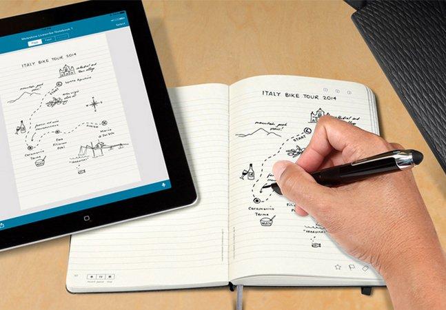 Caneta inovadora permite transferir anotações e desenhos diretamente de um caderno para o iPad