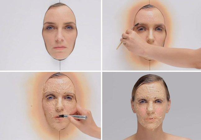Vídeo simula 365 dias de maquiagem aplicados de uma só vez e reflete sobre uso excessivo de produtos de beleza