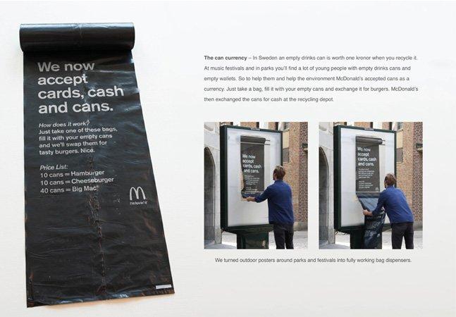 McDonald's incentiva reciclagem aceitando latas vazias como forma de pagamento em festival de música