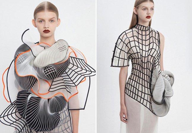 Designer cria coleção de roupas feitas com impressora 3D