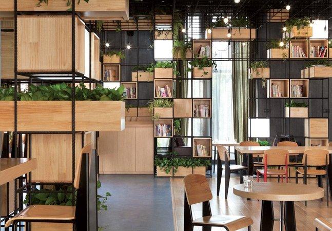 Café modular na China quer incentivar arquitetura verde no país