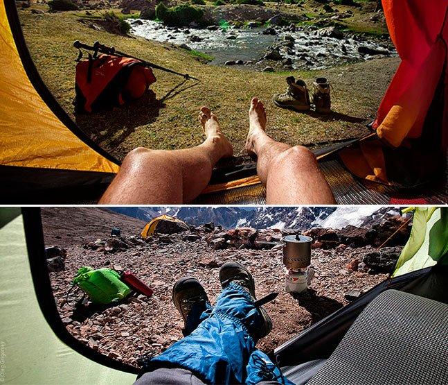 Fotógrafo viajante cria série mostrando diferentes pontos de vista de dentro da sua barraca