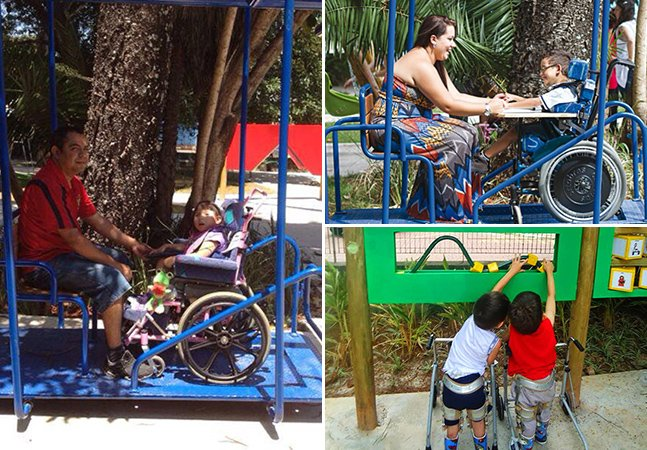Brasileiro cria parque acessível para crianças com deficiência física