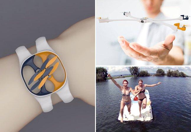 Conheça a câmera-drone em forma de bracelete que volta voando para você depois de fotografar