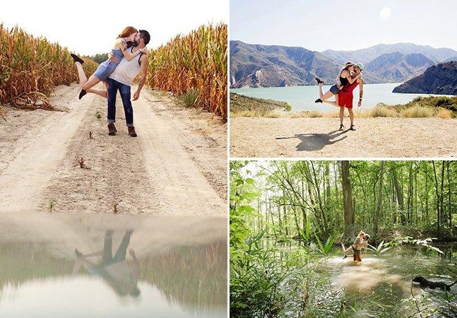 Casal de fotógrafos encontra forma criativa de registrar seu amor e suas viagens
