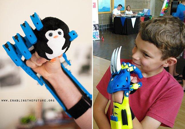 Projeto colaborativo oferece próteses infantis de baixo custo inspiradas em super-heróis