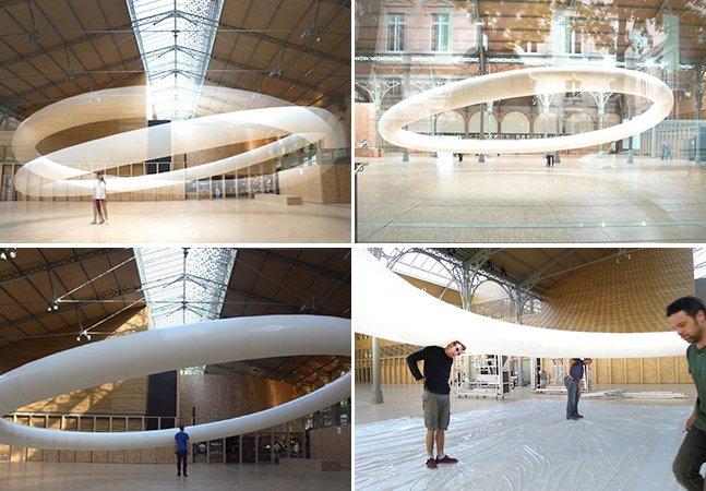 Escultura cinética gigantesca parece flutuar diante dos nossos olhos