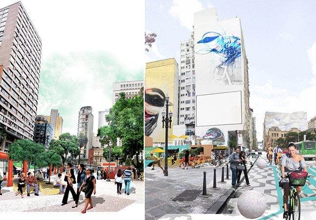 Centro de SP ganha intervenção urbana para incentivar a ocupação dos espaços públicos