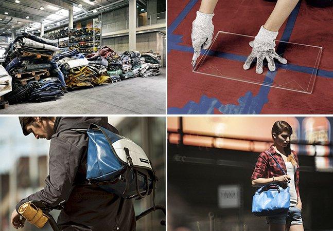 Conheça a marca que cria bolsas modernas feitas com lonas velhas de caminhão