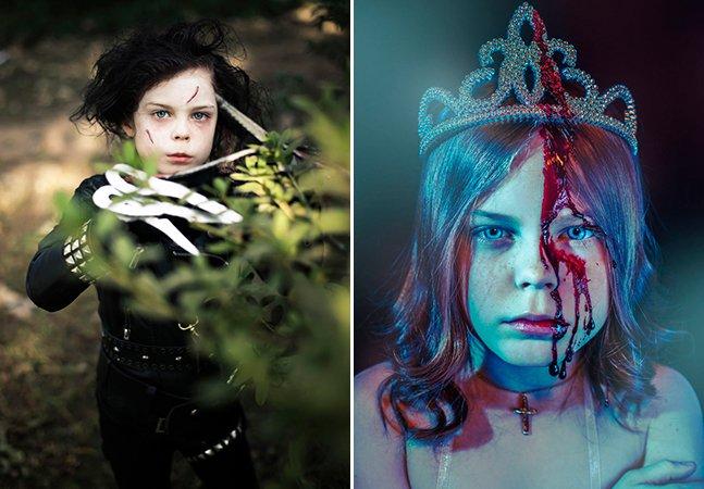 Mãe transforma filha em icônicas personagens que vão inspirar seu Halloween