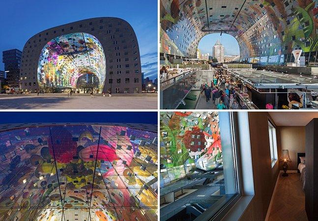 Novo mercado é inaugurado na Holanda com 228 apartamentos e mural gigante de mais de 36 mil metros quadrados