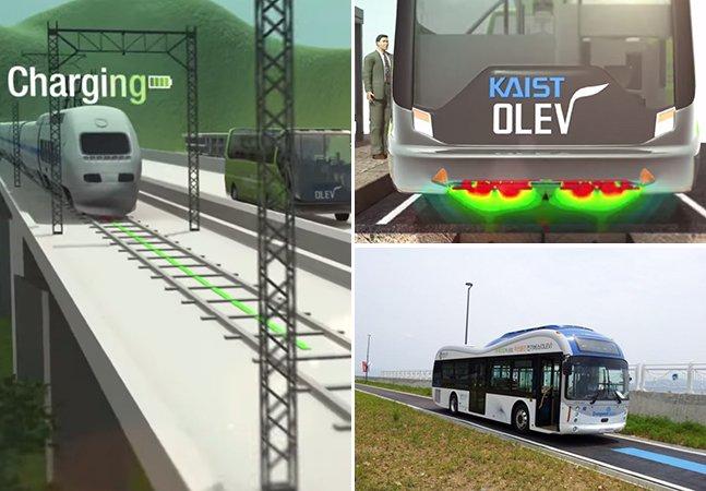 Cidade na Coreia do Sul inaugura ônibus elétricos capazes de captar energia do asfalto