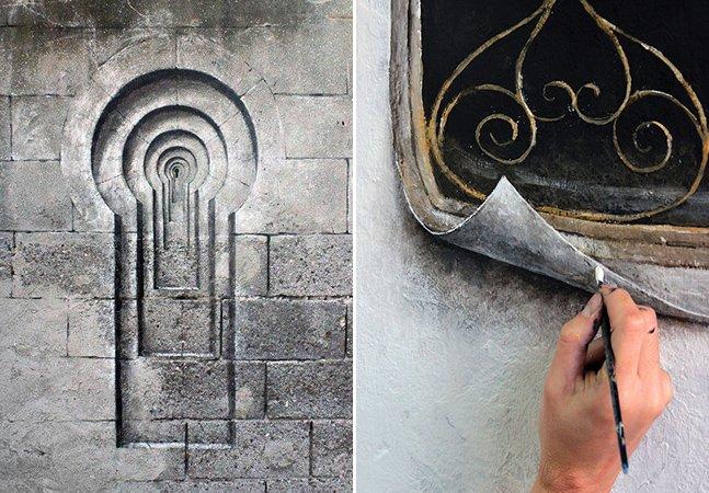 Artista de rua cria obras com forte crítica social que vão confundir seus sentidos