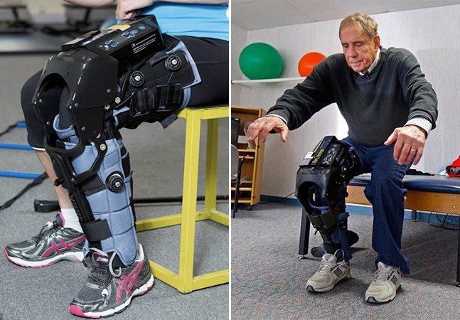 Perna biônica high-tech ajuda pacientes em fisioterapia e dispensa o uso de muletas