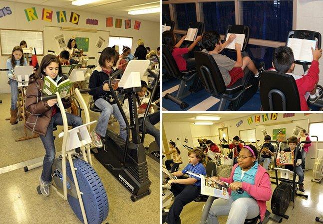 Escola troca cadeiras por bicicletas ergométricas para prevenir obesidade