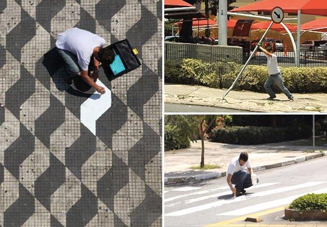 """Grupo de intervenção urbana decide """"reformar"""" São Paulo consertando pequenas coisas pela cidade"""