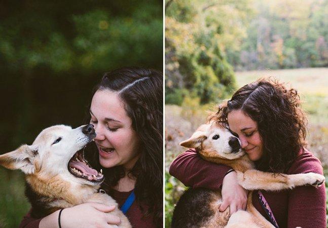 Mulher faz ensaio emocionante para se despedir do seu cão de 16 anos