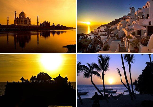 12 lugares incríveis para curtir o pôr do sol ao redor do mundo