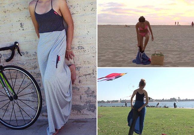 Conheça o vestido que ajuda mulheres a trocar de roupa em público