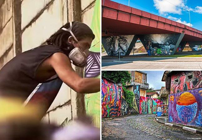 Grafiteiros brasileiros dão dicas dos melhores lugares pra curtir a arte de rua pelo país