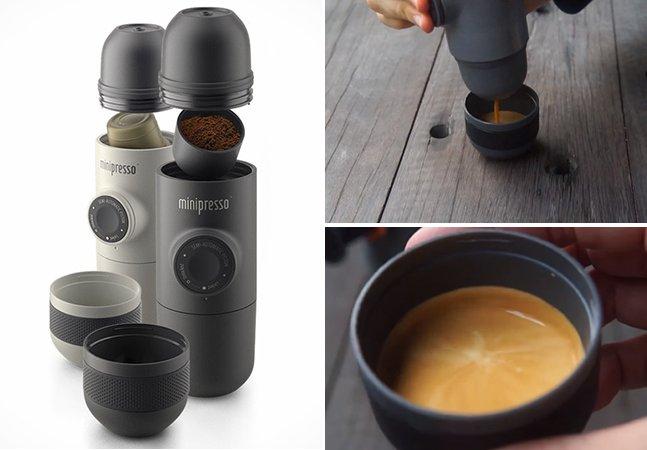 A máquina de café expresso portátil que cabe dentro da sua bolsa